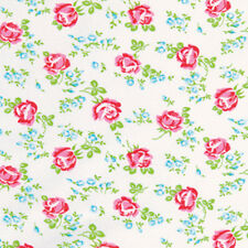 """Tanya Whelan Sugar Hill Scattered Roses Laminate Fabric in White 54/56"""""""