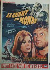 """""""LE CHANT DU MONDE"""" Affiche entoil. (Marcel CAMUS,Jean GIONO,Catherine DENEUVE)"""