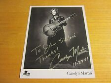 Carolyn Martin Country Musician Autographed Signed 8X10 Photo