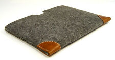 "MacBook Pro 15"" felt with leather CORNERS sleeve case, UK MADE, PERFECT FIT!"