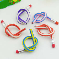 5pcs/lot Colorful Magic Bendy Flexible Soft Pencil With Eraser Gift Kids Writing