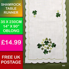 New Embroidered Shamrock Table Runner Ireland Irish Dining Kitchen Celtic S83