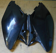 Honda 02-07 CR125 CR250 Plastic Side Covers Black CR 125 CR 250 0003678.090
