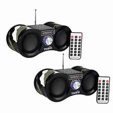 2X Mini FM Radio 87.5~108MHz USB/TF Card Speaker MP3 Music Player&Remote Control