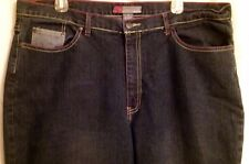 NEESO NEW YORK LADIES JEANS MED WASH WIDE LEG COTTON SPANDEX   SZ 22