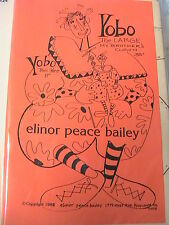 "YOBO~ELINOR PEACE BAILEY~1988 Whimsical 11"" & 35"" cloth art doll/clown pattern"