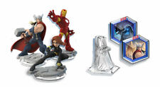 Disney Infinity 2.0 Figures THOR, IRONMAN + BLACK WIDOW + PLAYSET CRYSTAL +DISCS