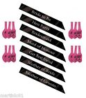 BLACK HEN NIGHT SASH PARTY SASHES ACCESSORIES OUT DO GIRLS DELUXE GLITTER BLING