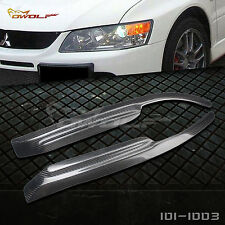For Mitsubishi Lancer EVO7/8/9 Eyelid Eyebrow Headlight Cover Carbon Fiber 03-07