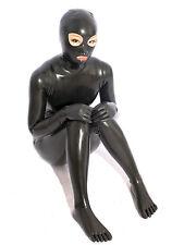 100% Latex Rubber Gummi Catsuit Ganzanzug 0.45mm Bodysuit Overall Zentai Kostüm