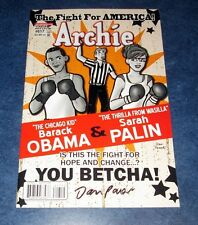 ARCHIE #617 signed 1st print comic CAMPAIGN PAINS BARACK OBAMA SARAH PALIN cover
