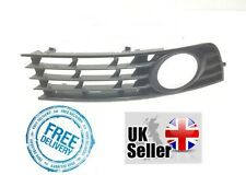 AUDI A4 B6 2000-2004 FRONT BUMPER GRILLE DRIVER SIDE WITH HOLE 8E0807682