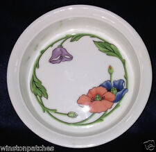 "VILLEROY & BOCH AMAPOLA QUICHE 5 1/4"" BLUE PURPLE & ORANGE FLOWERS GREEN STEMS"