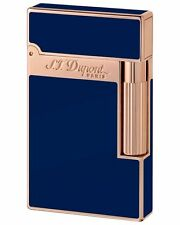 S.T. Dupont Ligne 2, Blue Chinese Lacquer W/ Pink Gold Accents 16496 New In Box