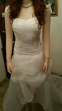 Wedding dress Wh high low sz 14 corset lace by Grace Karin Clearance Sale