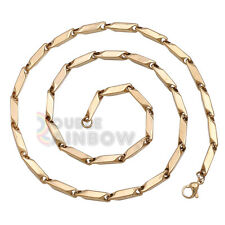 "C3 24""inch men stainless steel Gold 5mm Bullet necklace chain Link Free Shipping"