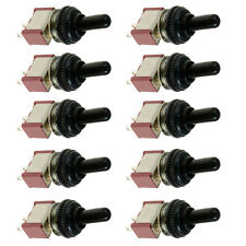 10 x On/Off Mini Miniature Toggle Switch Model Railway Car Dashboard Cap
