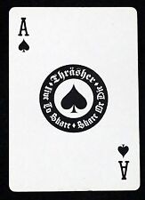 THRASHER Single Playing Card ACE OF SPADES High Speed Prod Copyright