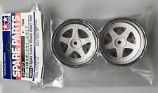 Tamiya 50673 5-Spoke 2-Piece Wheels Wide (1 Pair) (TA01/TA02W) NIP