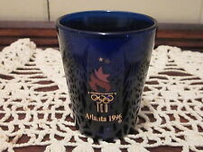 Atlanta 1996 Olympic Shot Glass (Cobalt Blue)