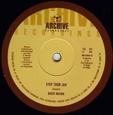 BARRY BROWN - STOP THEM JAH 10' BACK IN STOCK!!