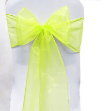 1/10/50/100Pcs Sheer Organza Chair Covers Sashes Party Wedding Banquet Bow Decor