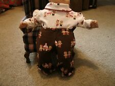 bitty baby girl doll gingerbread print turtleneck and matching pants c1