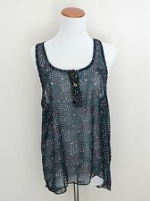 Women's New Forever 21 Floral Sheer Top Tank Size Small NWT