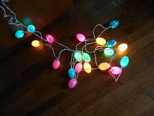 LOT OF 2 EASTER EGG LIGHT SETS ~EACH 8' LONG WITH 10 PASTEL COLOR EGGS~