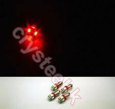 4 PCS BA9S 5 X 5050 SMD LED Red Super Bright Car Side Lights Lamp Bulb DC 12V