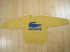 BIG LOGO!! early 80s vtg LACOSTE alligator MUSTARD COLOR sweat shirt YOUTH SMALL
