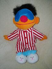 Sesame Street Sing & Snore Ernie Plush Fabric Doll by Tyco - 18  1996