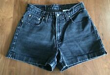 Vtg 90's JORDACHE Shorts Grunge Revival High Waist Black Denim Sz 7 8 Mom Jeans
