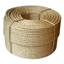 500m Coil of 6mm Tossa Jute Rope Natural Twisted Jute Fibre Cord Garden Farming
