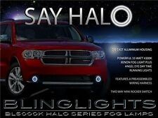 2011 2012 2013 Dodge Durango Halo Fog Lamp Angel Eye Driving Light Kit + Harness
