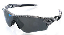 OAKLEY 9181 44 RADARLOCK PATH WHITE FINGEPRINT BLACK IRIDIUM POLARIZED LUNETTES