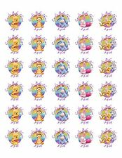 30 Winnie the Pooh Baby Shower Stickers Lollipop Labels Party Favors 1.5 in