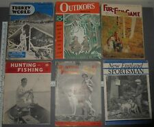 VINTAGE HUNTING FISHING MAGAZINE LOT TURKEY WORLD ALASKA SPORTSMAN FUR FISH GAME