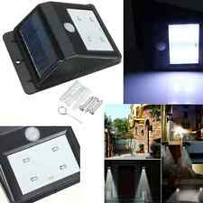 Solar Power 4 LED Wireless PIR Motion Sensor Security Shed Wall Light Lamp