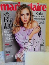 MARIE CLAIRE FRENCH MAGAZINE JANUARY 2016 SUKI WATERHOUSE SPRING STYLE