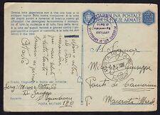 POSTA MILITARE 1943 Franchigia da PM 180 a Camerino (M6)
