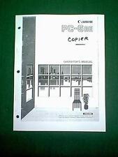 CANON PC-6RE PC6RE COPIER OPERATORS MANUAL