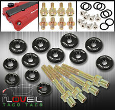 B16A2 B16A3 B18C1 B18C5 JDM ALUMINUM LOW PROFILE MOTOR VALVE COVER BOLT KIT BLK