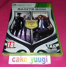 SAINT ROW DOUBLE PACK  XBOX 360 NEUF SOUS BLISTER FRANCAIS VERSION FRANCAISE