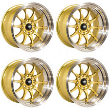 17x9 MST CE28 Style MT11 5x100/5x114.3 20 Gold Wheel Rim set(4)