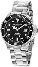 Stuhrling Regatta 792 01 Automatic Diver Date Stainless Steel Mens Watch