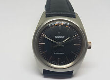 RARE USED TISSOT SEASTAR BLACK DIAL MANUAL WIND MAN'S WATCH