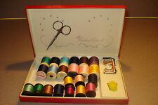 Vintage Belding Corticelli Sewing Kit Box 22 Spools of Vintage Thread