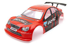 . las carreras de Mercedes Clase C Amg 1/10 Rc Car Body Shell Rojo 190 Mm s014r