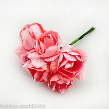 144 Pink 2.5mm Paper Artificial Rose Buds Flowers DIY Craft Scrapbook #C